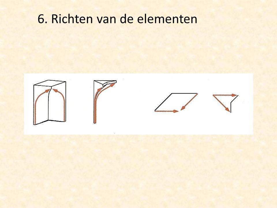 6. Richten van de elementen
