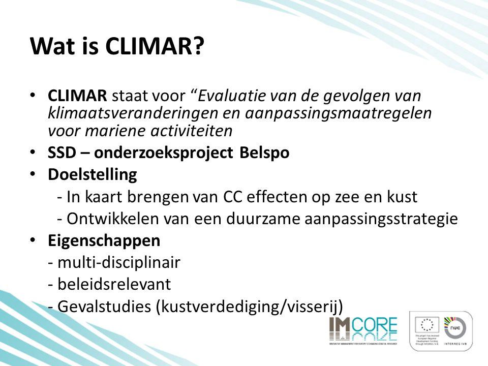 Bedoeling van de workshop • In kaart brengen van de effecten van klimaatsverandering per sector - Welke effecten zijn vandaag reeds voelbaar.