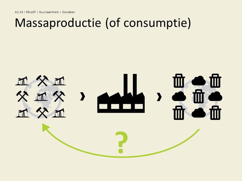 ? Massaproductie (of consumptie) A2-15 | REcoEP | Duurzaamheid | Oorzaken