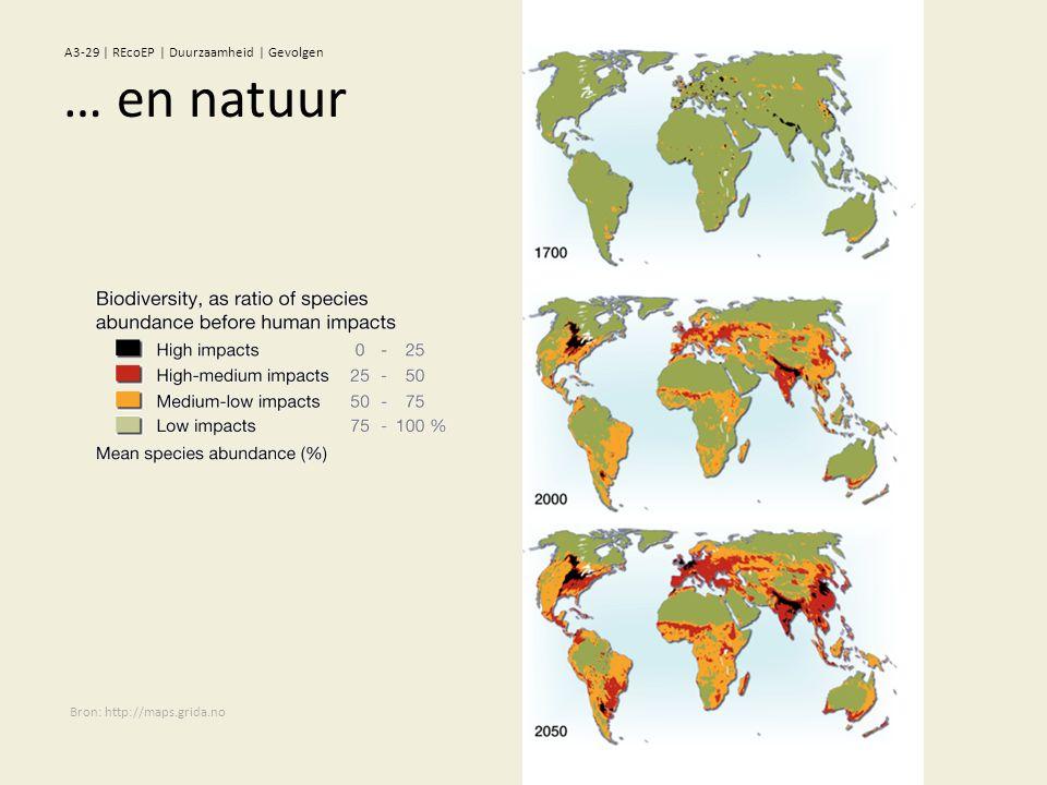 Bron: http://maps.grida.no … en natuur A3-29 | REcoEP | Duurzaamheid | Gevolgen