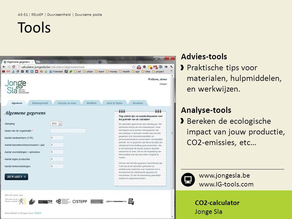CO2-calculator Jonge Sla Advies-tools Praktische tips voor materialen, hulpmiddelen, en werkwijzen.