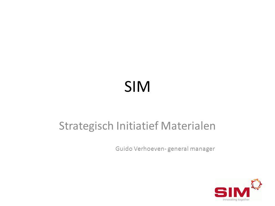 SIM Strategisch Initiatief Materialen Guido Verhoeven- general manager