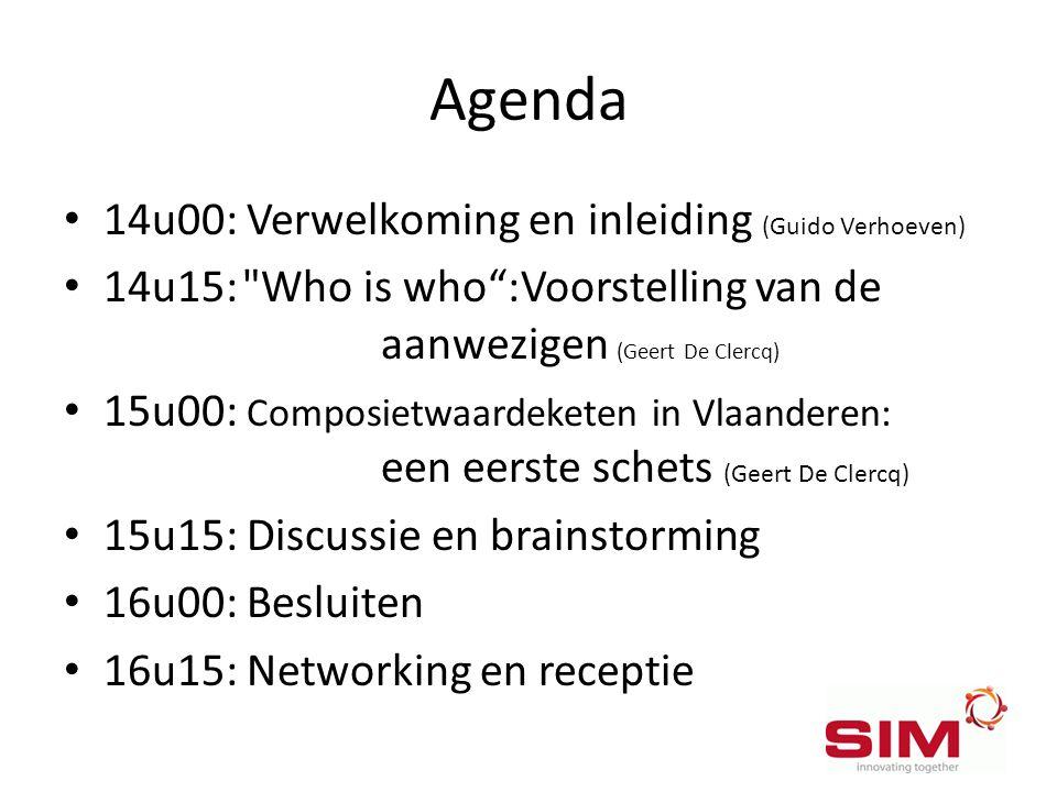 Agenda • 14u00: Verwelkoming en inleiding (Guido Verhoeven) • 14u15: