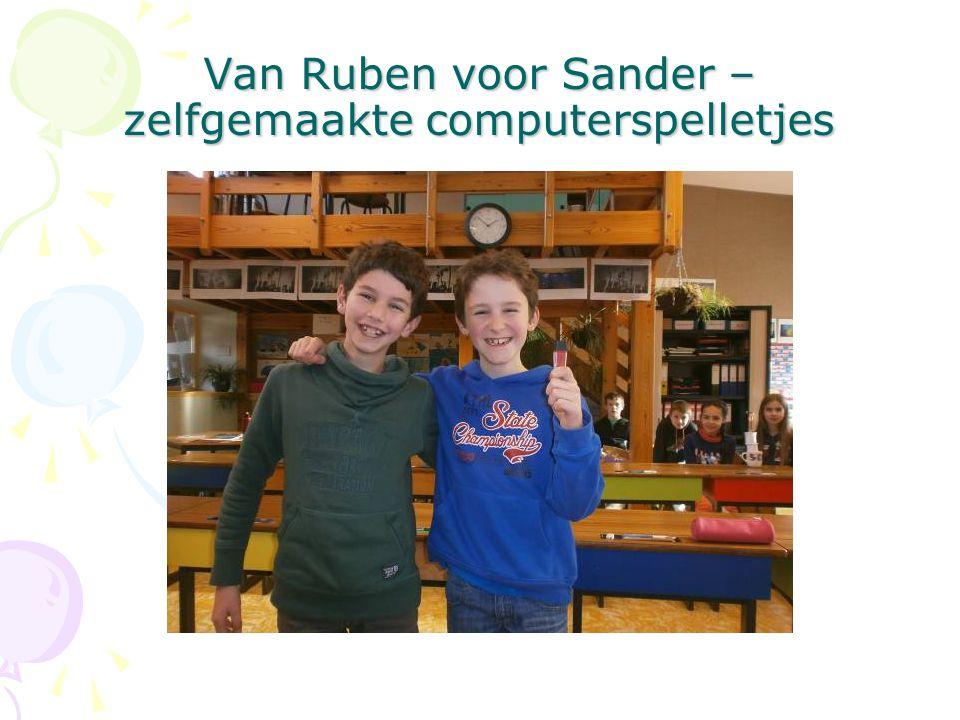 Van Ruben voor Sander – zelfgemaakte computerspelletjes