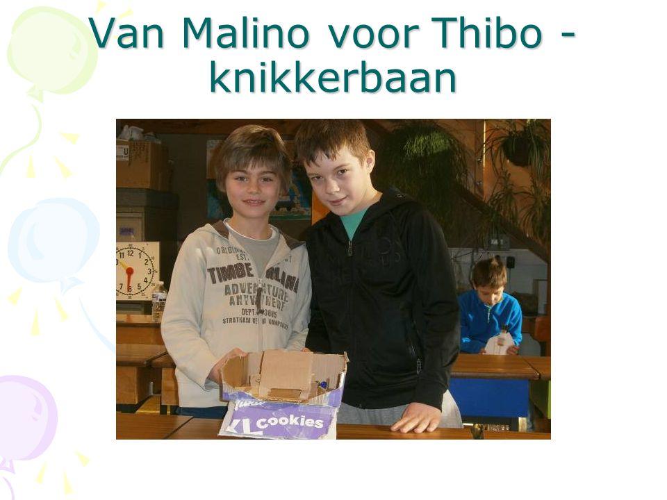 Van Malino voor Thibo - knikkerbaan