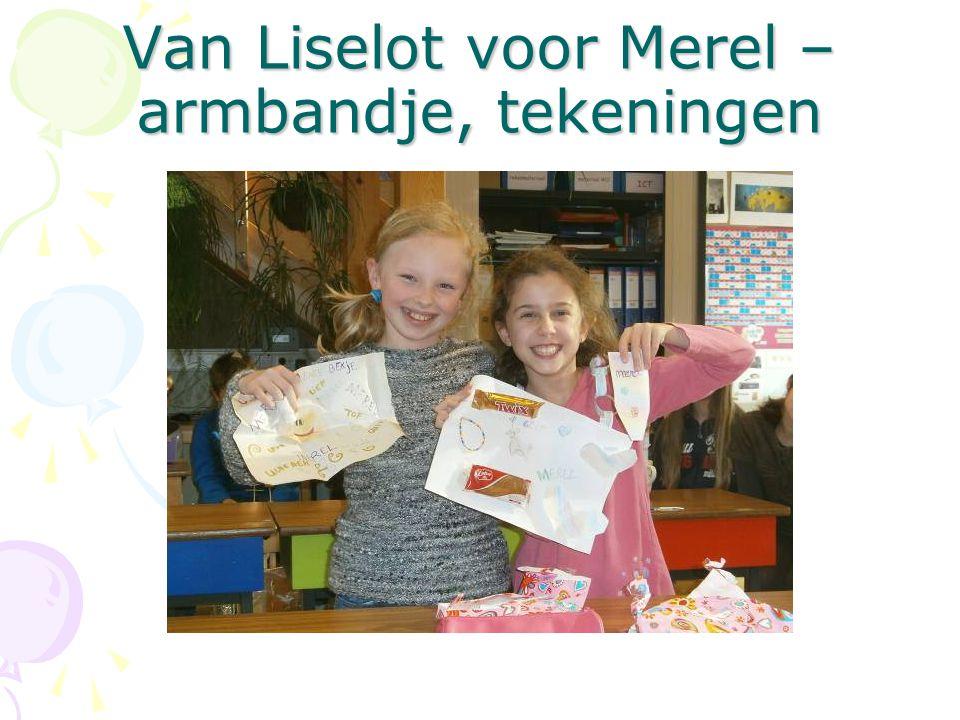 Van Liselot voor Merel – armbandje, tekeningen