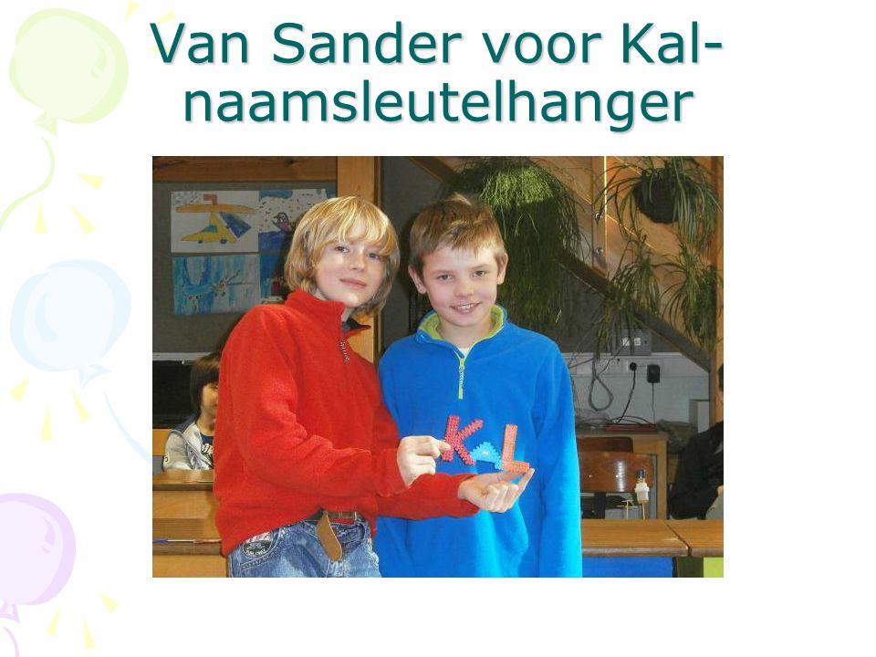Van Sander voor Kal- naamsleutelhanger
