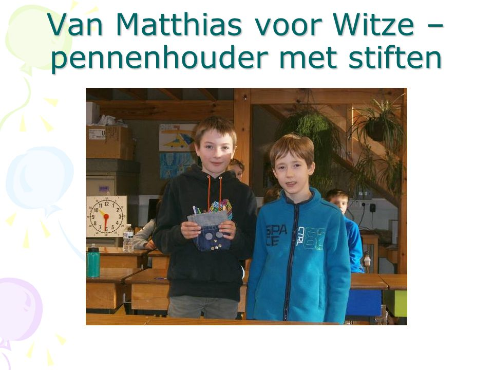 Van Matthias voor Witze – pennenhouder met stiften