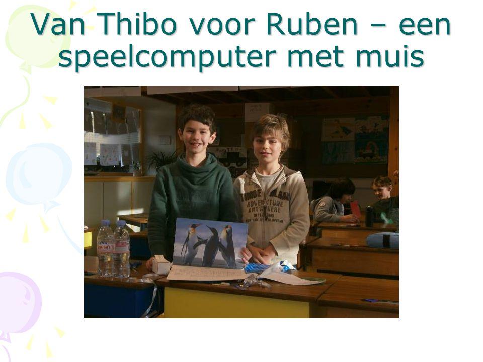 Van Thibo voor Ruben – een speelcomputer met muis