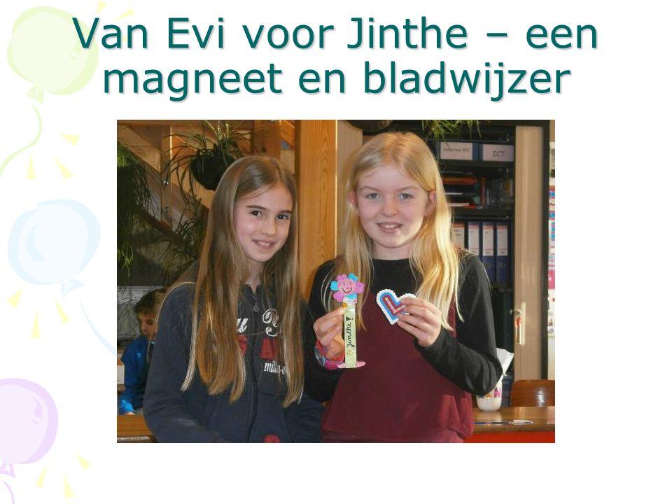 Van Evi voor Jinthe – een magneet en bladwijzer