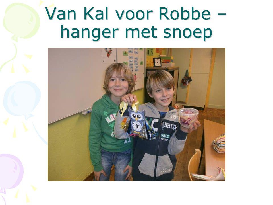 Van Kal voor Robbe – hanger met snoep