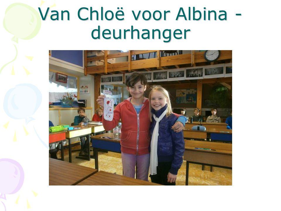 Van Chloë voor Albina - deurhanger
