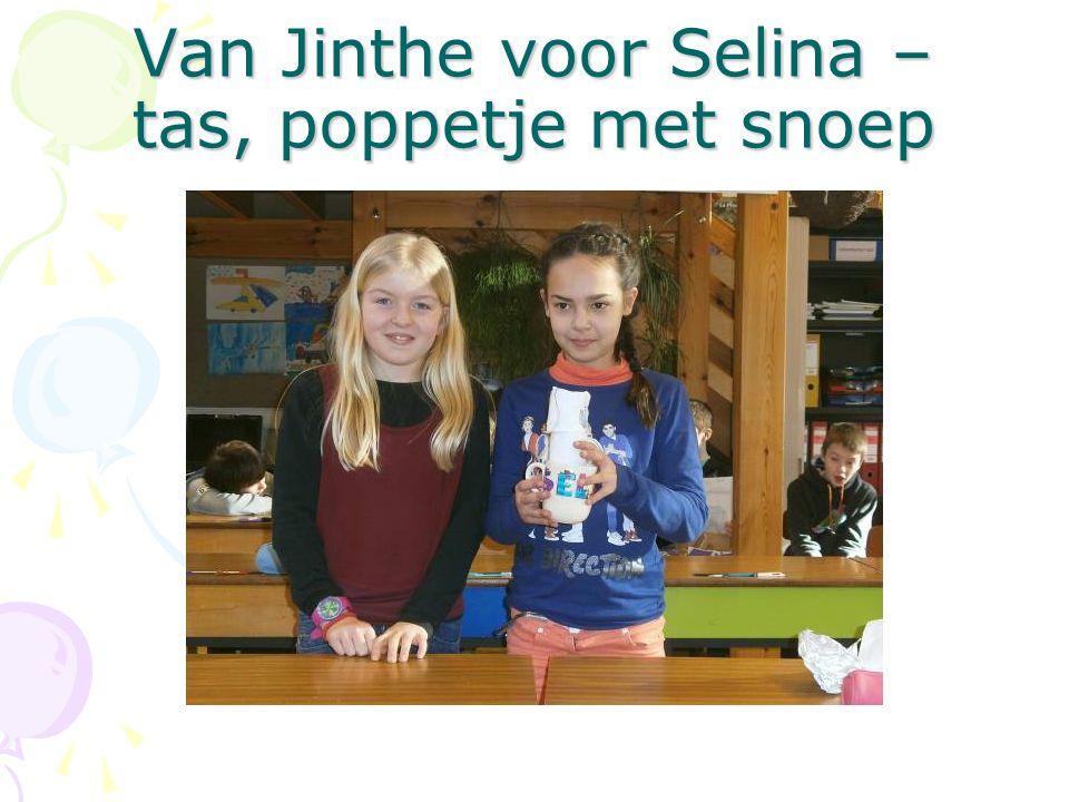 Van Jinthe voor Selina – tas, poppetje met snoep
