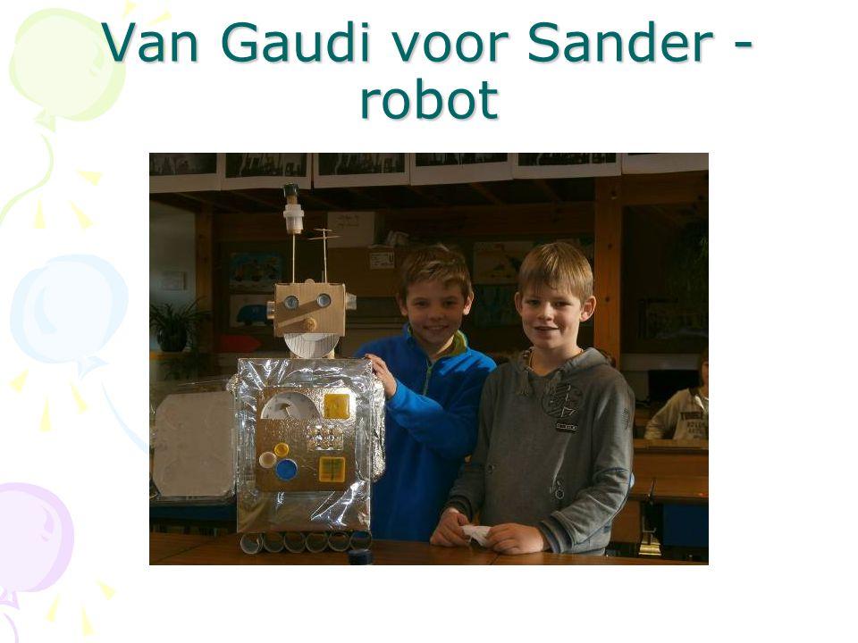 Van Gaudi voor Sander - robot