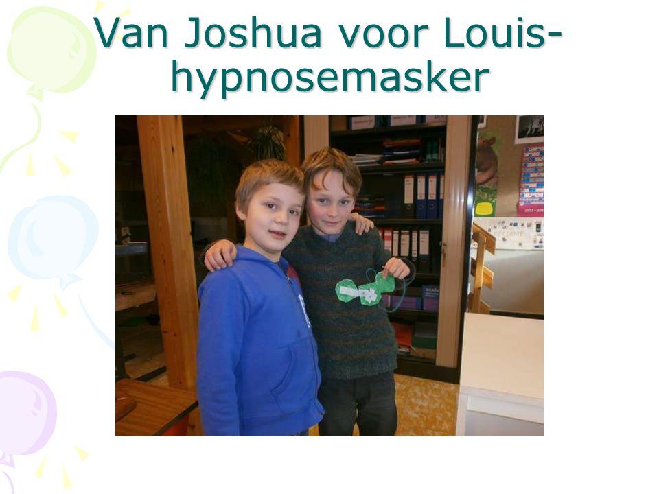 Van Joshua voor Louis- hypnosemasker