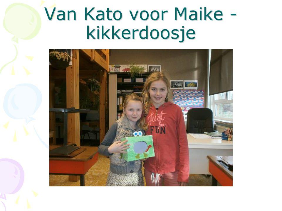 Van Kato voor Maike - kikkerdoosje