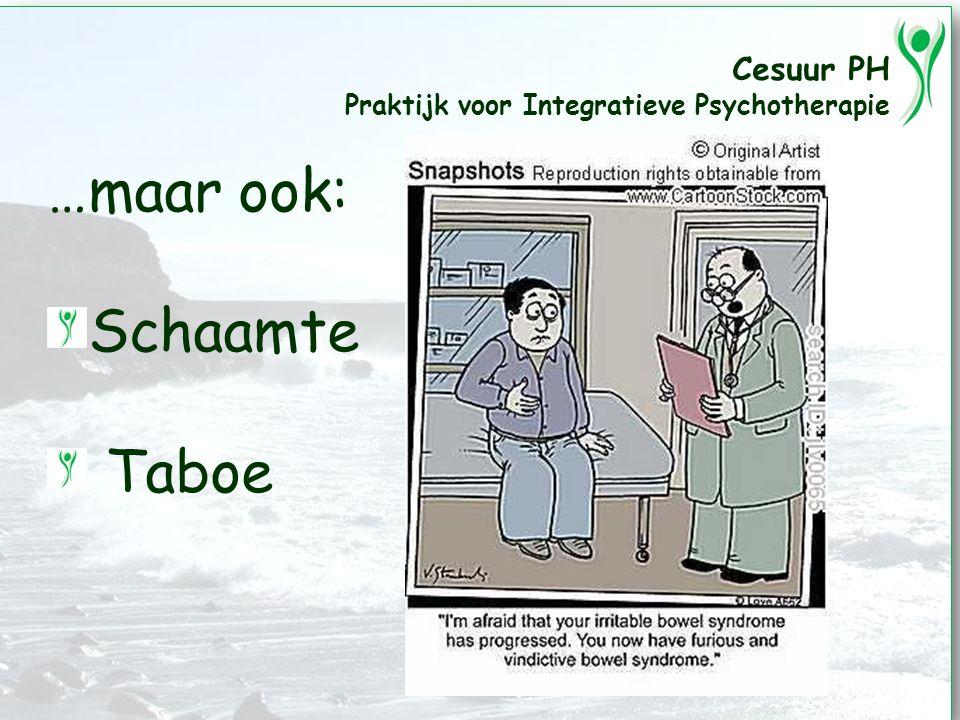 Cesuur PH Praktijk voor Integratieve Psychotherapie …maar ook: Schaamte Taboe