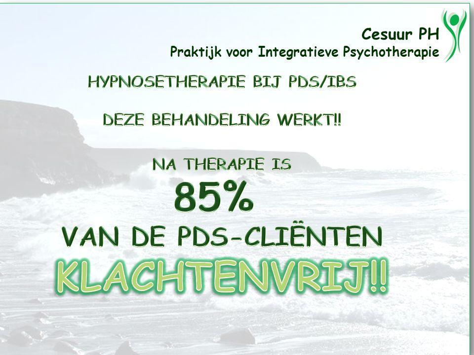 Cesuur PH Praktijk voor Integratieve Psychotherapie HYPNOSETHERAPIE BIJ PDS/IBS DEZE BEHANDELING WERKT!!