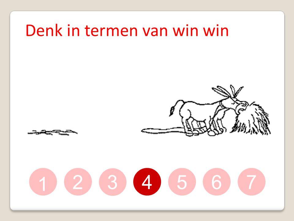 1 234567 Denk in termen van win win