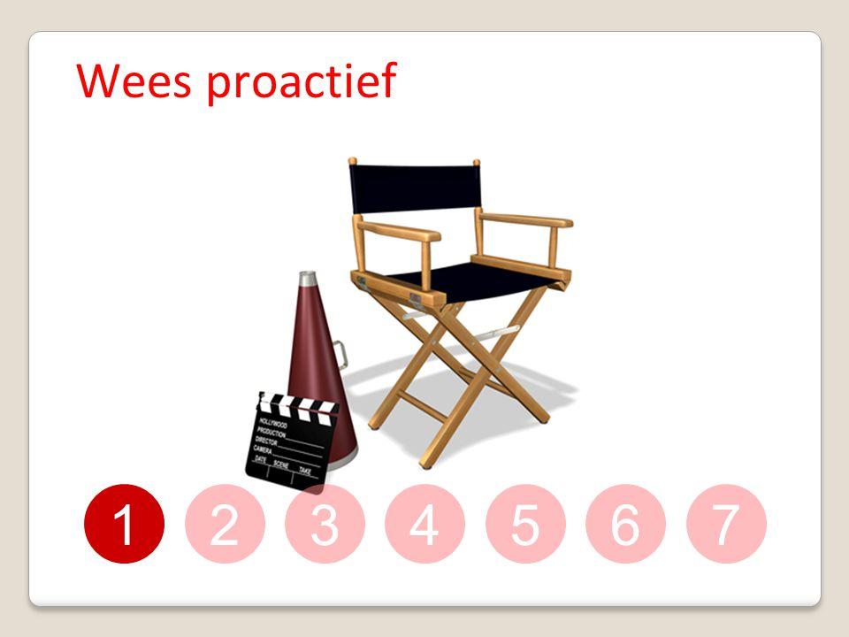1234567 Wees proactief