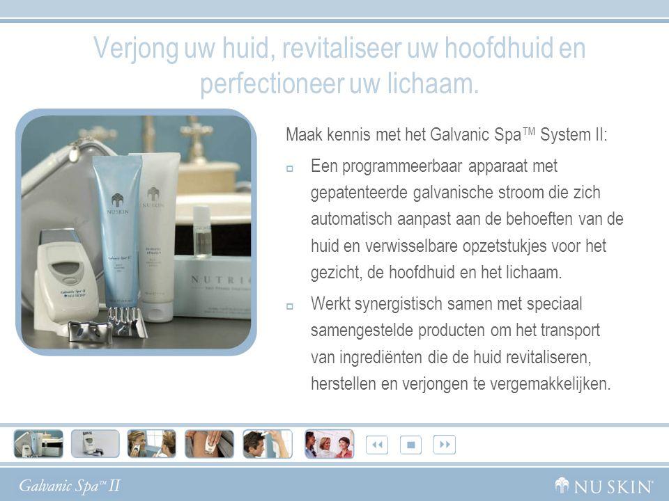 Het Nu Skin ® Galvanic Spa ™ System II Een complete schoonheidsbehandeling in uw eigen huis.