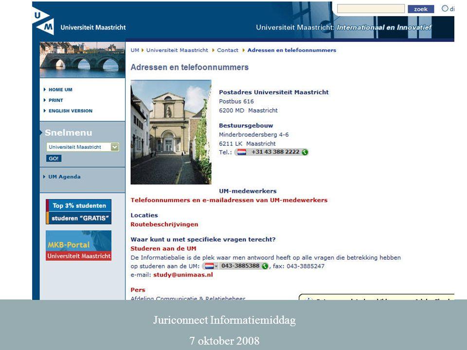 Juriconnect Informatiemiddag 7 oktober 2008