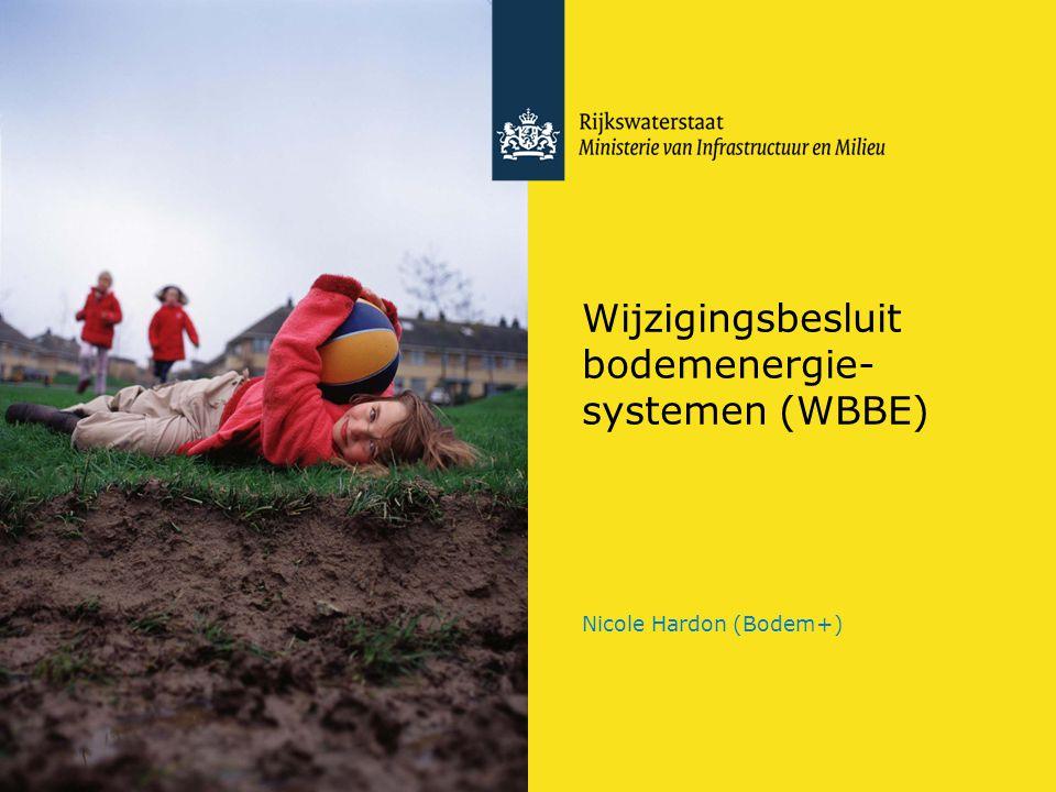 Wijzigingsbesluit bodemenergie- systemen (WBBE) Nicole Hardon (Bodem+)
