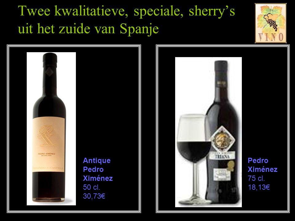 Ook wel kortweg 'PX' genoemd. Deze wijn is een originele afsluiting van de maaltijd. PX is verrassend zoet en vol van smaak. Pedro Ximénez heeft de vo