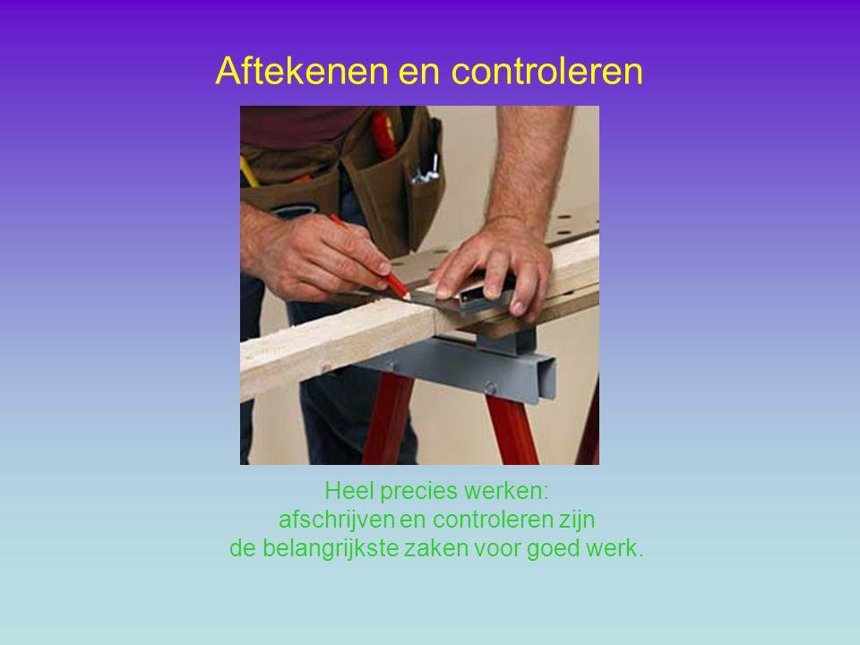 De vouwmeter de lengte = 2 meter Gereedschap voor het aftekenen en controleren
