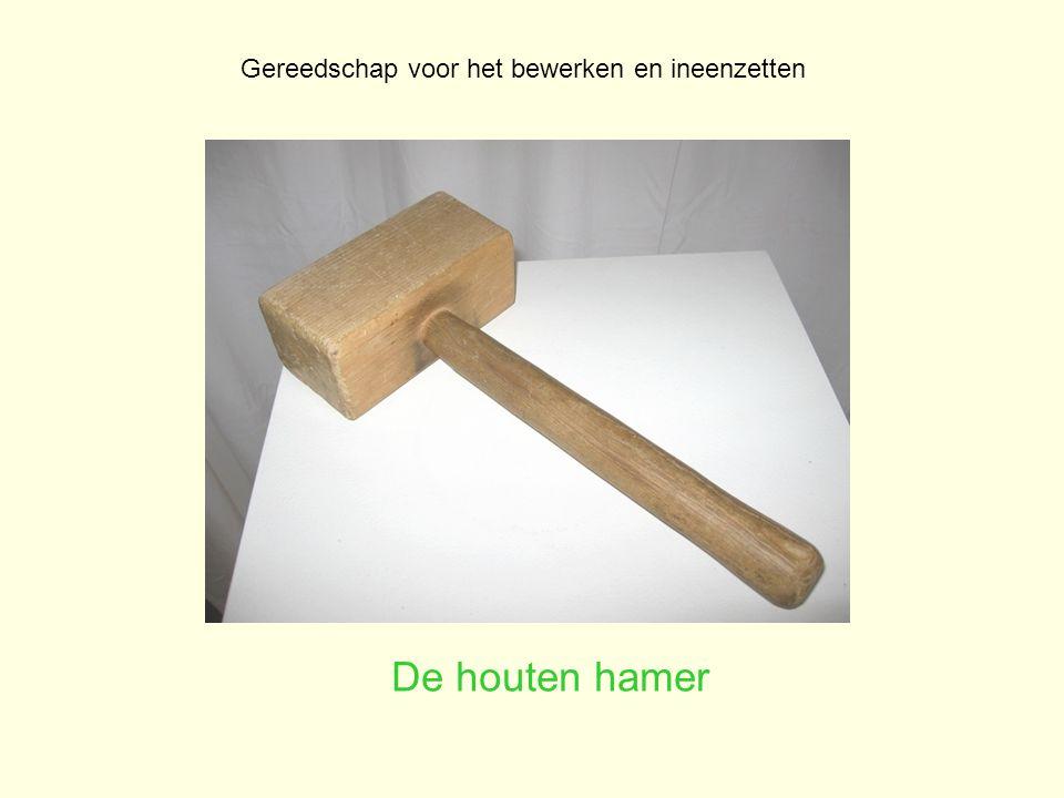 De houten hamer Gereedschap voor het bewerken en ineenzetten