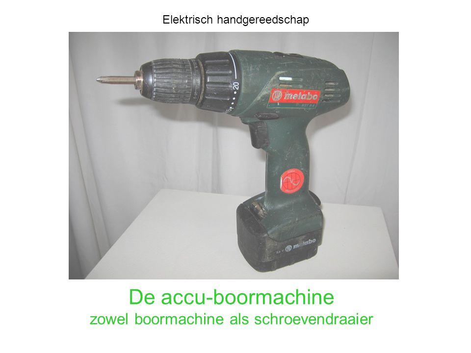 De accu-boormachine zowel boormachine als schroevendraaier Elektrisch handgereedschap