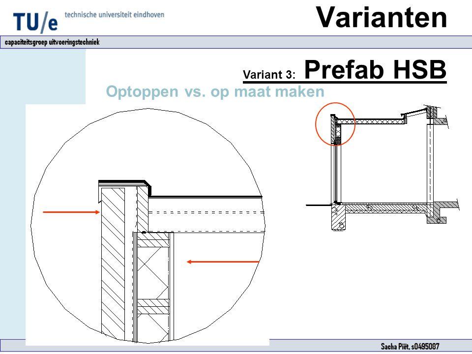 Variant 3: Prefab HSB Optoppen vs. op maat maken Varianten