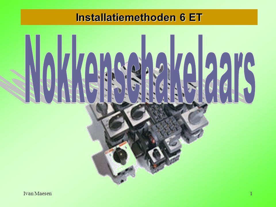 Ivan Maesen22 Nokkenschakelaars voor poolomschakelbare motoren Motoren met gescheiden wikkelingen       