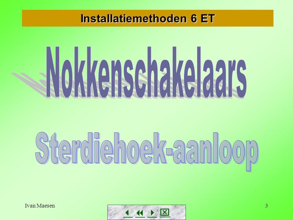 Ivan Maesen4 Nokkenschakelaars voor sterdriehoek-aanloop Zie ook handboek Elekt.