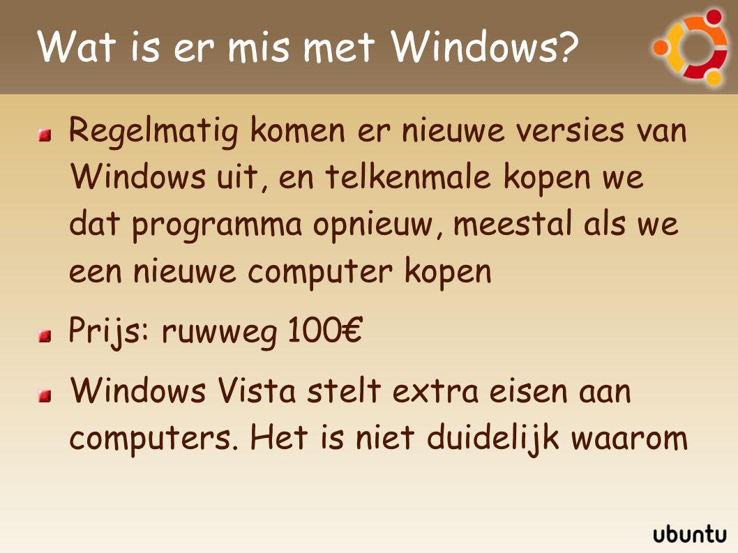 Wat is er mis met Windows? Regelmatig komen er nieuwe versies van Windows uit, en telkenmale kopen we dat programma opnieuw, meestal als we een nieuwe