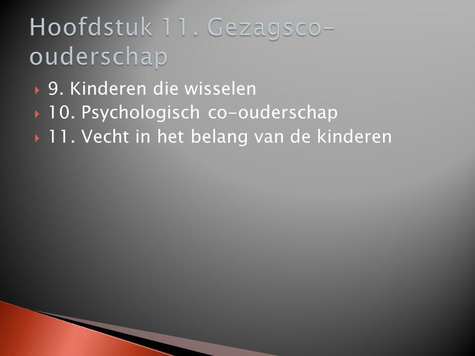  9. Kinderen die wisselen  10. Psychologisch co-ouderschap  11. Vecht in het belang van de kinderen