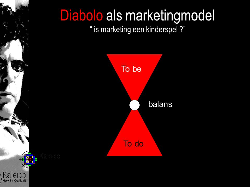 "Diabolo als marketingmodel "" is marketing een kinderspel ?"" To be To do balans"