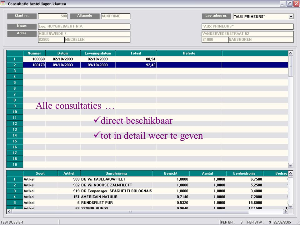 •Bestellingen manueel ingeven •Of importeren uit een bestand dat aangemaakt is met een scanner ?