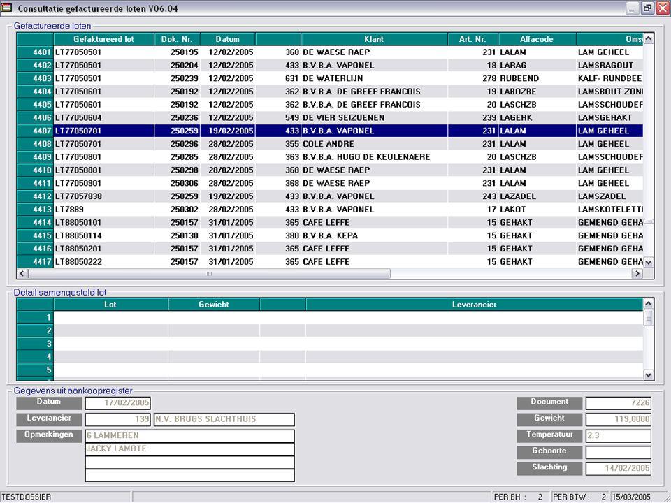 •Ingave analytisch boekhoudplan •9999 kostendragers •9999 kostenplaatsen