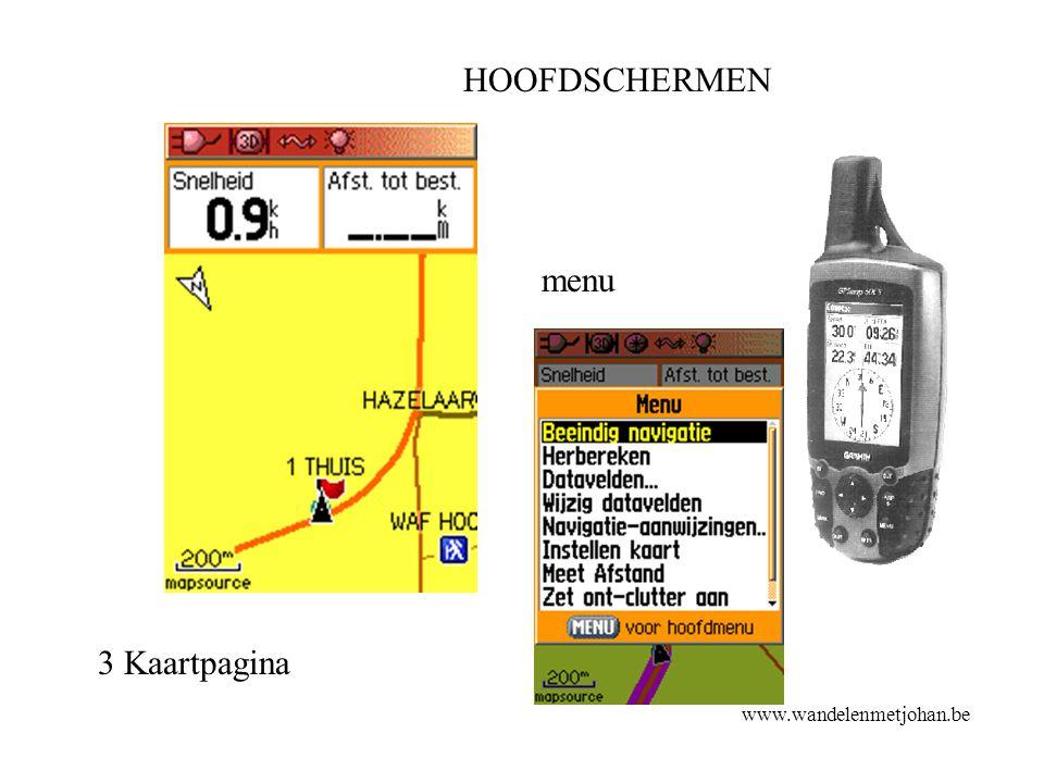 HOOFDSCHERMEN www.wandelenmetjohan.be 3 Kaartpagina menu HS 3 Kaart