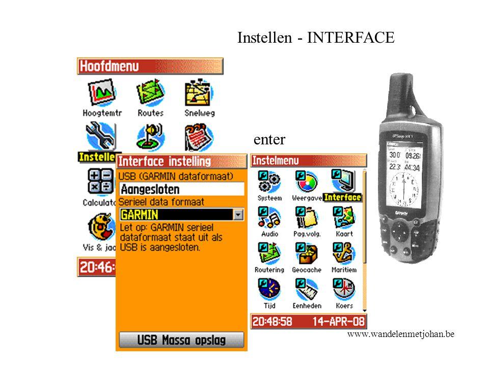Instellen - INTERFACE enter www.wandelenmetjohan.be
