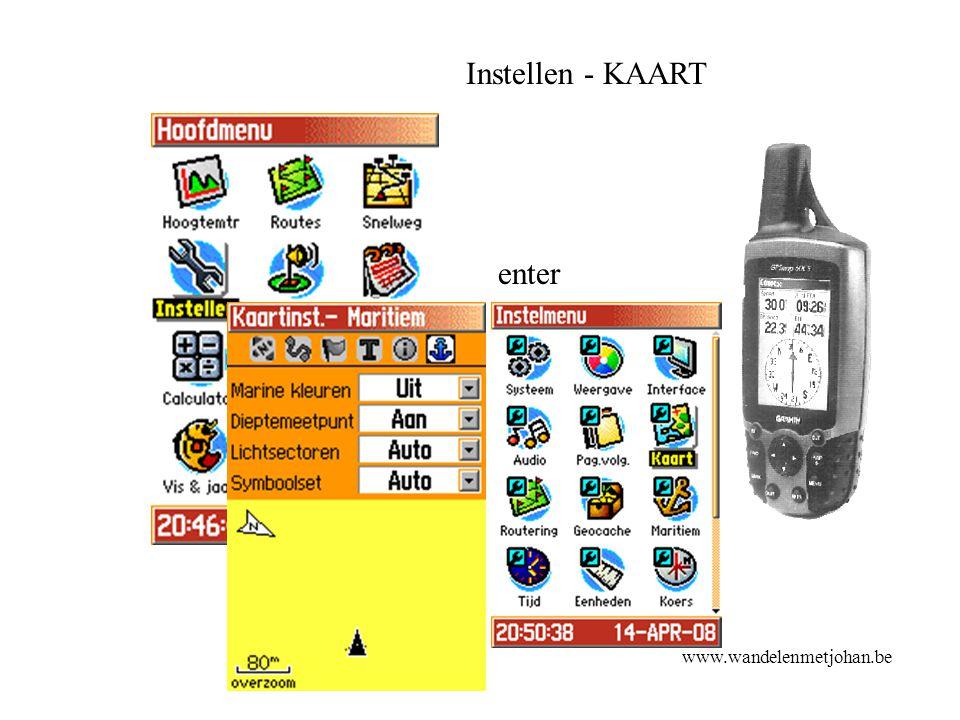 Instellen - KAART enter www.wandelenmetjohan.be