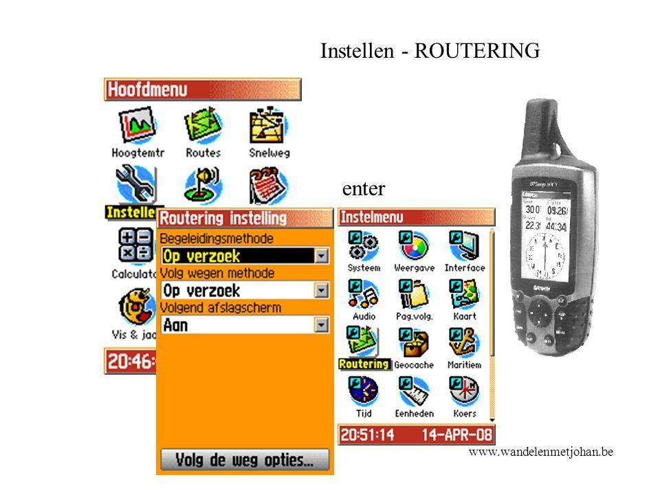 Instellen - ROUTERING enter www.wandelenmetjohan.be