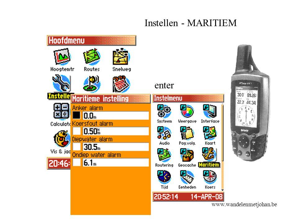 Instellen - MARITIEM enter Maritiem www.wandelenmetjohan.be