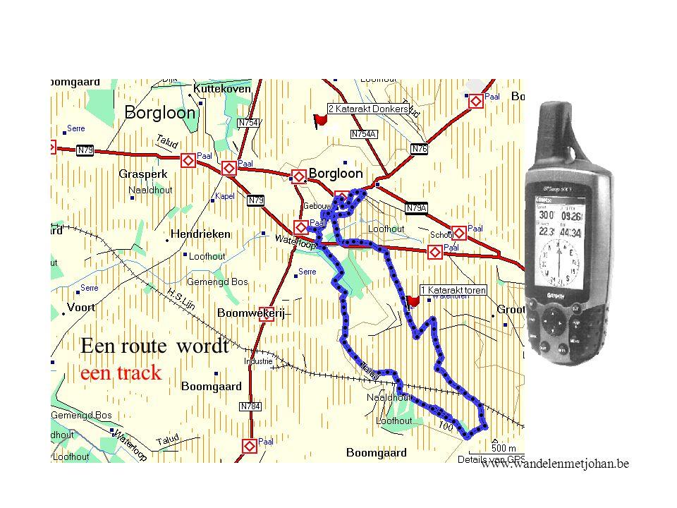 www.wandelenmetjohan.be KANTELTOETS - Door een lijst bewegen, een veld of een knop selecteren of de kaart verschuiven Kanteltoets
