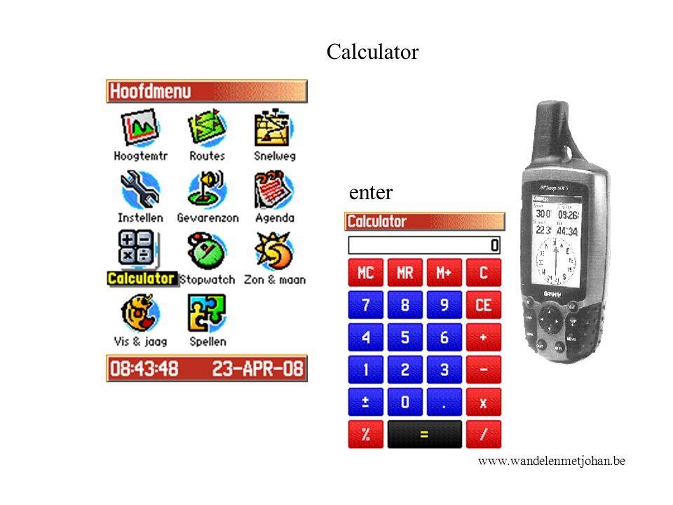 Calculator enter calculato r www.wandelenmetjohan.be