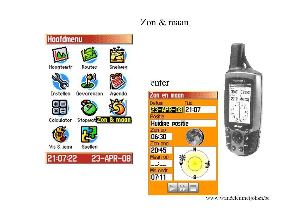 Zon & maan enter Zon & maan www.wandelenmetjohan.be