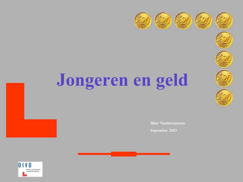 Marc Vandercammen September 2003 Jongeren en geld