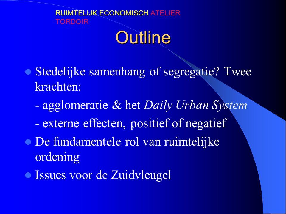 Outline  Stedelijke samenhang of segregatie? Twee krachten: - agglomeratie & het Daily Urban System - externe effecten, positief of negatief  De fun