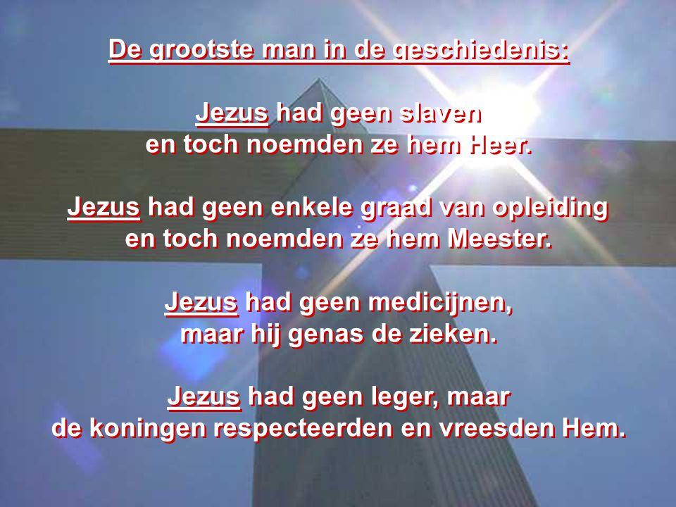 Welnu, wie is Hij.Hij is Jezus. Hij is waardig.